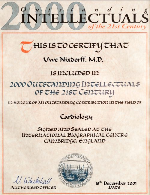 2000 Outstanding Intellectuals of the 21St Century
